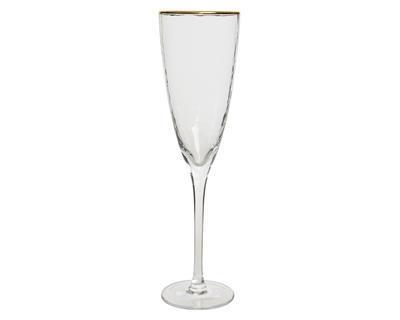 Vánoční sklenice na šampaňské GOLD 7x26 cm, Kaemingk