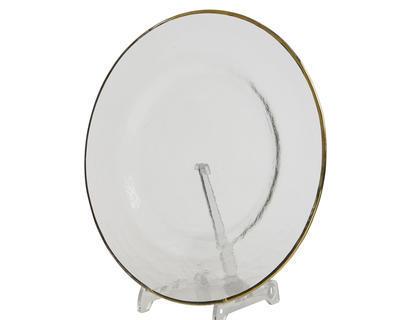 Vánoční talíř jídelní GOLD 28 cm, Kaemingk