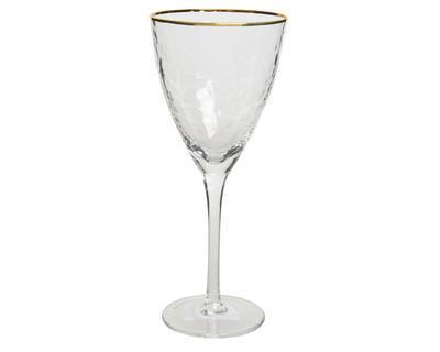 Vánoční sklenice na bílé víno GOLD 19x21,6 cm, Kaemingk