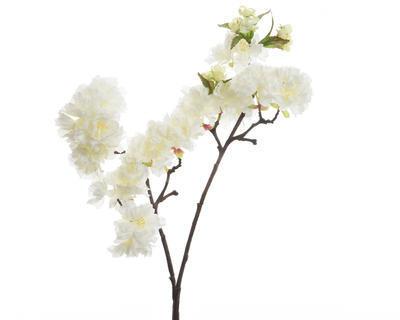 Větvička TŘEŠŇOVÝ KVĚT 90 cm - bílá, Kaemingk