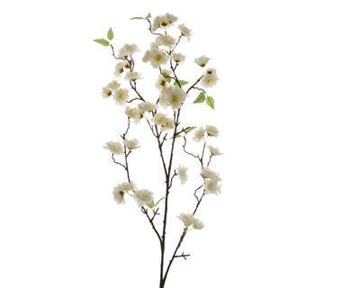 Větvička TŘEŠEŇ ROZKVETLÁ 112 cm - bílá, Kaemingk