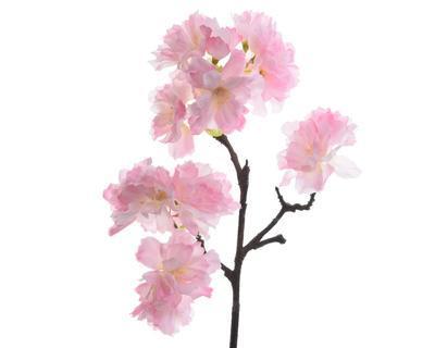Větvička TŘEŠŇOVÝ KVĚT 44 cm - růžová, Kaemingk