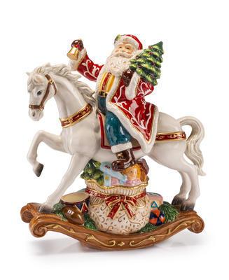 Vánoční Santa na koni NATALE 28x33 cm, Palais Royal