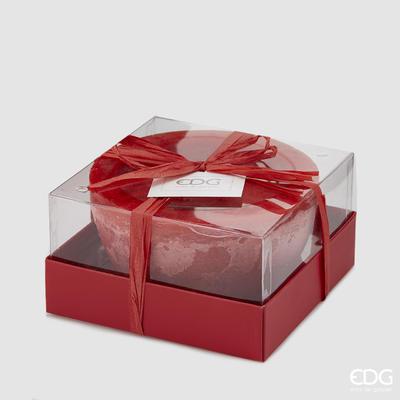 Svíčka vonná CANDELA VASO RED 7,5 cm - červená, EDG