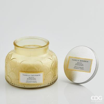 Svíčka vonná CANDELA SOIA C/VETRO 10 cm - Vanilla Bourbon, EDG