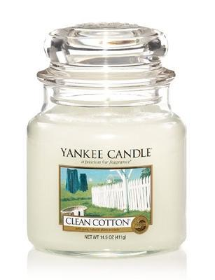 Svíčka Clean Cotton - sklo č.2, Yankee Candle