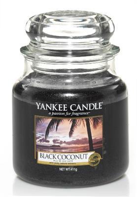 Svíčka Black Coconut - sklo č. 2,  Yankee Candle