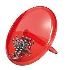 Magnet. držák PINN transp. červená, Koziol