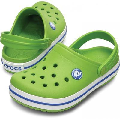 Boty CROCBAND KIDS C6/7 Zář. Zelená/Modrá, Crocs
