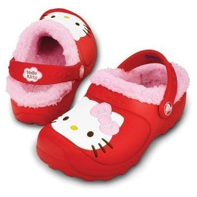 Boty HELLO KITY LINED COSTUM GLOG C8/9 red/bubblegum, Crocs