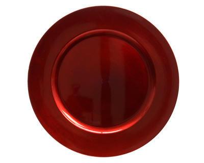 Vánoční dekorace - Talíř/podnos 33 cm - červená, Kaemingk