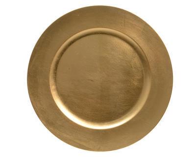Vánoční dekorace - Talíř/podnos 33 cm - zlatá, Kaemingk