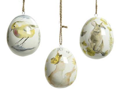 Velikonoční dekorace VAJÍČKO POTISK 7 cm, Kaemingk