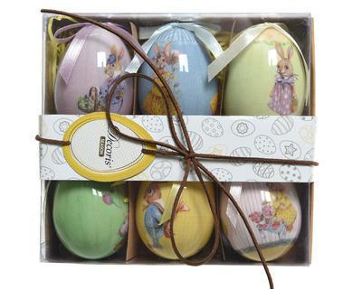 Velikonoční balení VAJÍČKA BUNNY FAMILY 6 ks , Kaemingk