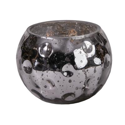 "Svícen SILVERY BALL ""S"" 13x13x10 cm - stříbrný, Wittkemper"