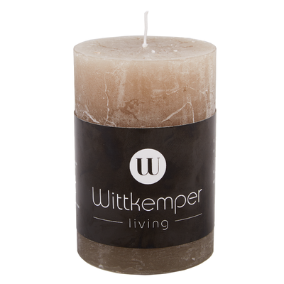 Svíčka RUSTIK PILLAR 9 cm - hnědá, Wittkemper