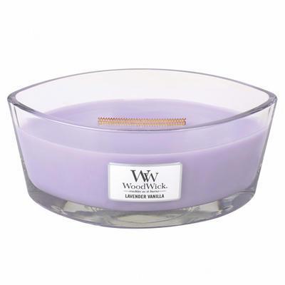 Svíčka vonná HEARTHWICK - Levandule s vanilkou - 453,6 g, WoodWick