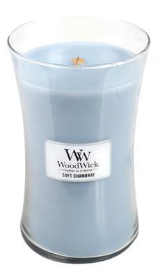 Svíčka 609,5 g Soft Chambray, WoodWick