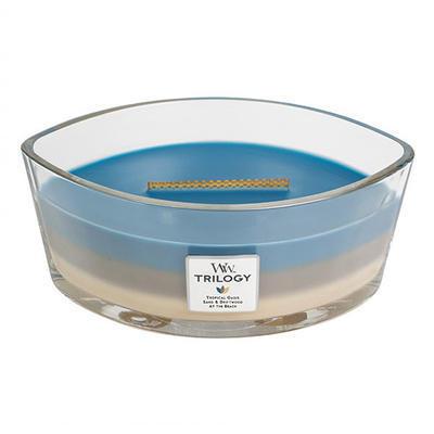 Svíčka loď - Nautical Escape TRILOGY - 453,6 g, WoodWick