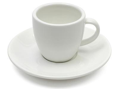 Šálek espresso s podšálkem WHITE BASICS 80 ml, Maxwell & Williams