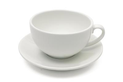 Šálek cappuccino s podšálkem WHITE BASICS 300 ml, Maxwell & Williams