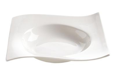 Talíř polévkový WHITE BASICS MOTION 22x22 cm, Maxwell & Williams