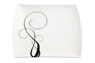 Čtvercový talíř WHITE BASICS BREEZE 30 cm, Maxwell & Williams