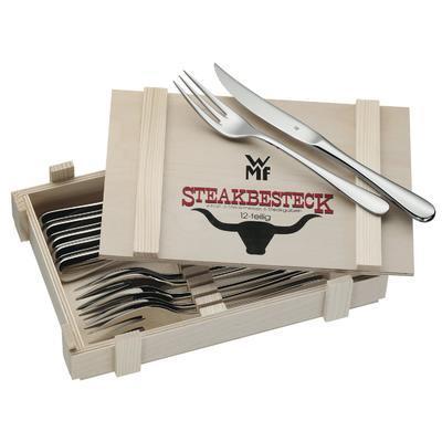 Sada příborů STEAK 12-dílná v dřevěné krabici, WMF