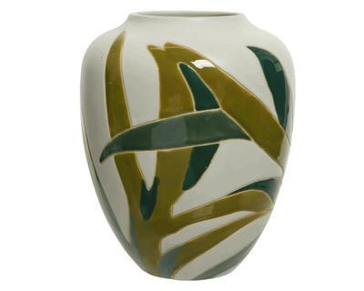 Váza LIST, 26cm, kamenina, bílá, Kaemingk