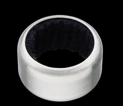 Kroužek na láhev nerez/černý, Cilio