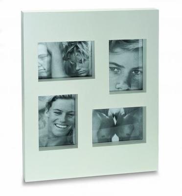Fotorámeček na 4 foto dřevěný, bílý lak, Philippi