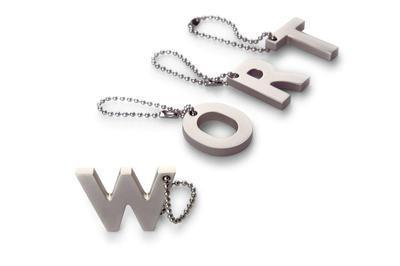 Přívěšek na klíče písmenko U, MY LETTERS, Philippi