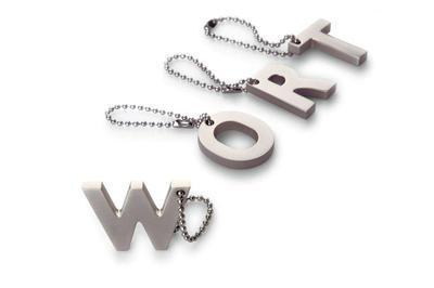 Přívěšek na klíče písmenko W, MY LETTERS, Philippi