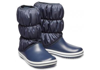 Dámské nepromokavé zimní boty PUFF BOTS, modré, vel. 38-39, Crocs