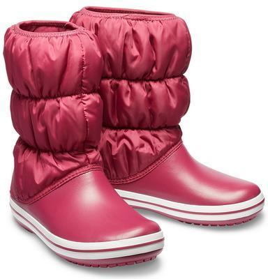 Dámské nepromokavé zimní boty PUFF BOTS, červené, vel. 38-39, Crocs