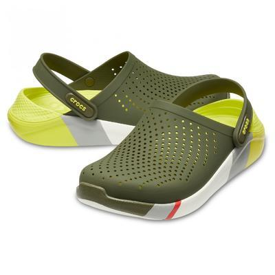 Boty LITERIDE COLORBLOCK CLOG M12 army green/white, Crocs