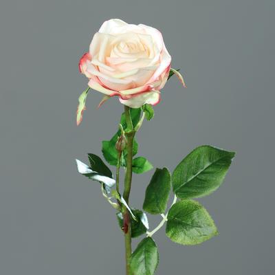 Květina RŮŽE 66 cm - broskvová/žlutá, DPI