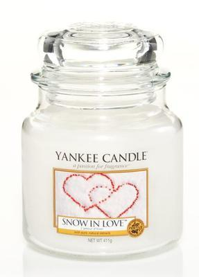Svíčka Snow in Love - sklo č.2, Yankee Candle