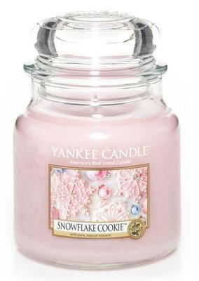Svíčka Snowflake Cookie - sklo č.2, Yankee Candle
