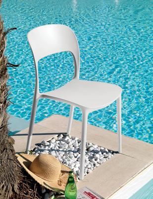 Židle bez područek GIPSY - white, Bontempi