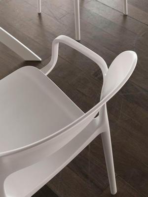 Židle s područkami GIPSY - white, Bontempi
