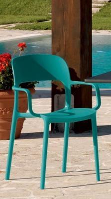 Židle s područkami GIPSY - torquoise, Bontempi