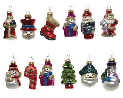 Vánoční ozdoba - Figurka XMAS 7 cm - 12 druhů, Kaemingk