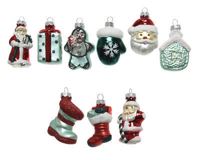 Vánoční ozdoba - Figurka XMAS 7 cm - 11 druhů, Kaemingk