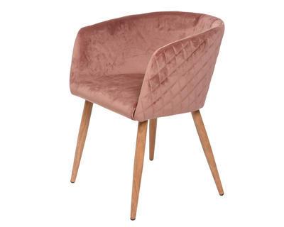 Židle jídelní VELVET 57x555x76 cm - starorůžová, Kaemingk