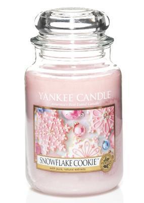 Svíčka Snowflake Cookie - sklo č.3, Yankee Candle