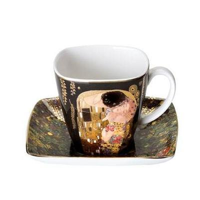 Šálek a podšálek espresso ARTIS ORBIS G. Klimt - The Kiss - 100 ml/6,5 cm, Goebel