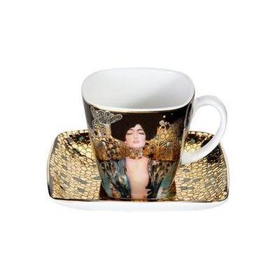 Šálek a podšálek espresso ARTIS ORBIS G. Klimt - Judith I - 100 ml/6,5 cm, Goebel