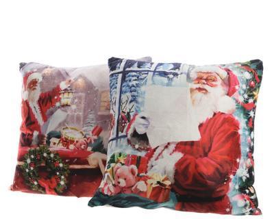 Vánoční LED polštář - SANTA 45x45cm/5L, Kaemingk
