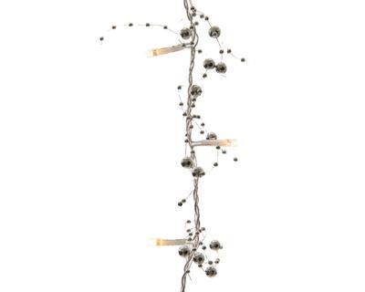 Vánoční dekorace - LED Girlanda korálek 180 cm - stříbrná, Kaemingk